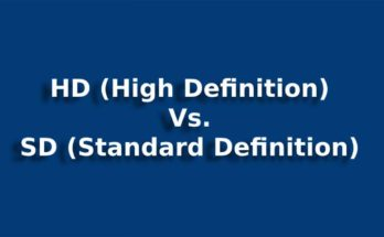 HD (High Definition) vs. SD (Standard Definition)