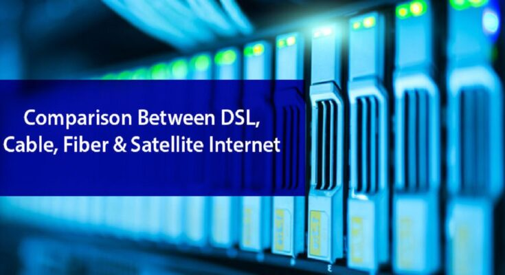 Difference Between Cable, Fiber, and DSL Internet