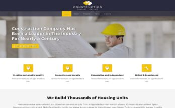Construction Business Website